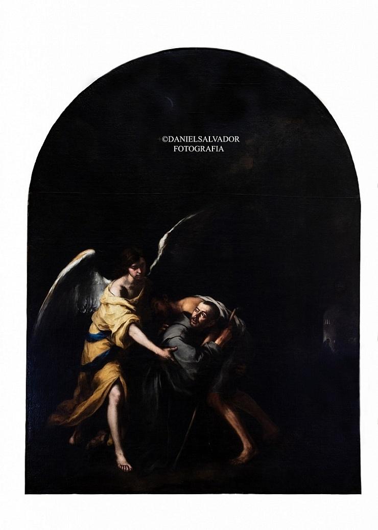 San Juan de Dios transportando un enfermo. Bartolomé Esteban Murillo. Hermandad de la Santa Caridad. Sevilla