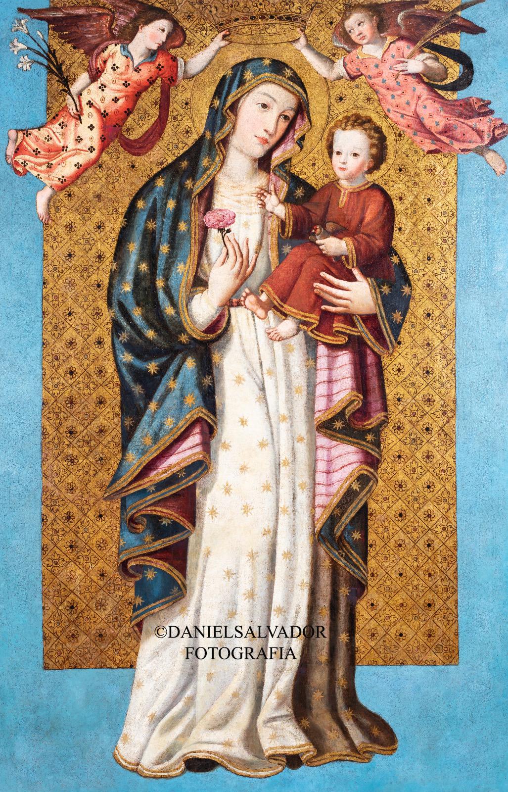 Virgen de la Antigua. Atribuida a Fernando de Cespedes. Colección de Manuel Morales y Fernández de Xódar.