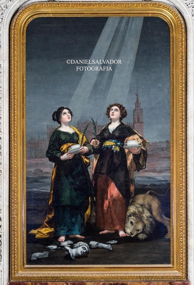 Santas Justa y Rufina. Francisco de Goya y Lucientes. Catedral de Sevilla