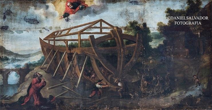La construcción del arca de Noé. Juan de Zamora. Palacio Arzobispal de Sevilla