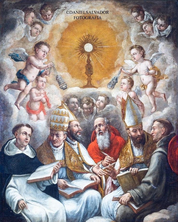 Alegoría al Santísimo Sacramento. Lucas Valdés. Hermandad Sacramental de San Pedro. Sevilla