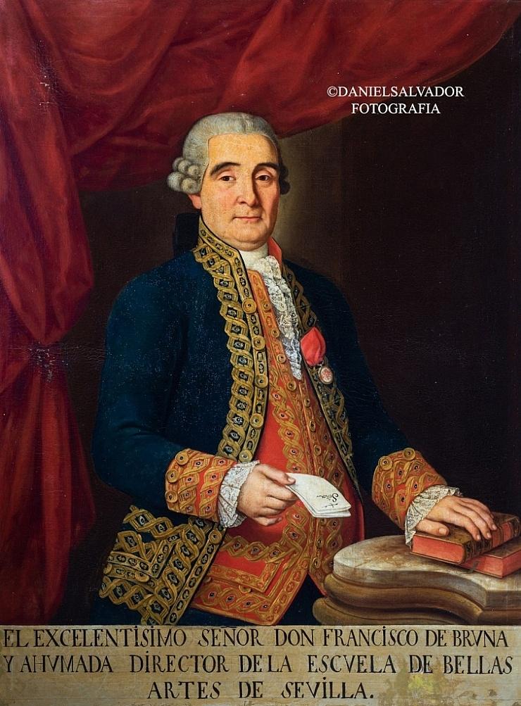 Don Francisco de Bruna y Ahumada. Anónimo. Academia de Bellas Artes de Santa Isabel de Hungría. Sevilla.