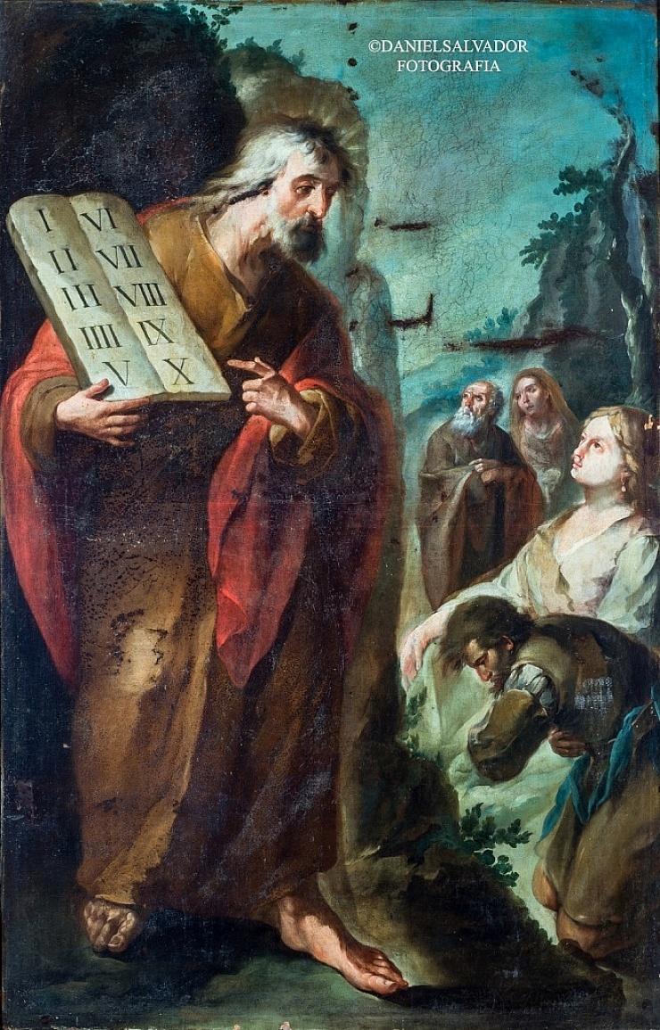 Moisés mostrando las tablas de la Ley. Juan de Espinal. Palacio Arzobispal de Sevilla