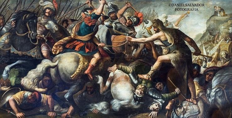 La batalla de Josué contra los amalacitas. Anónimo. Palacio Arzobispal de Sevilla