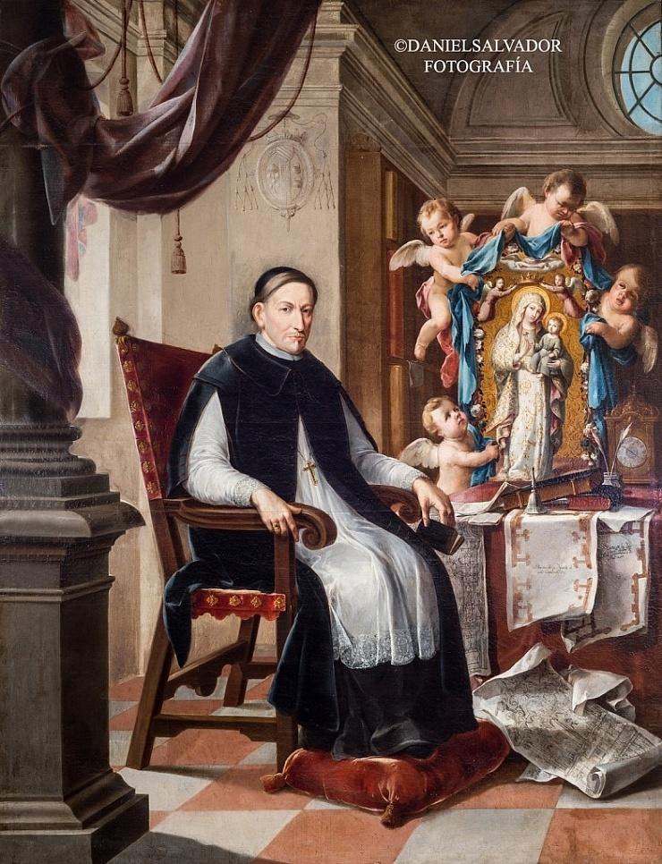 Retrato del arzobispo don Luis Salcedo y Azcona. Domingo Martínez. Palacio arzobispal de Sevilla