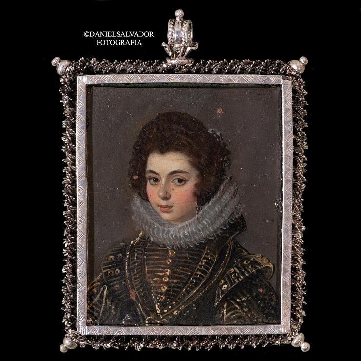 Retrato en miniatura de una dama. Diego Rodríguez de Silva y Velázquez (Atribuido)