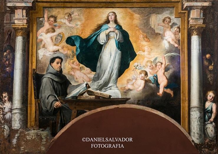 iLa Inmaculada con Fray Juan de Quirós de Bartolomé Esteban Murillo