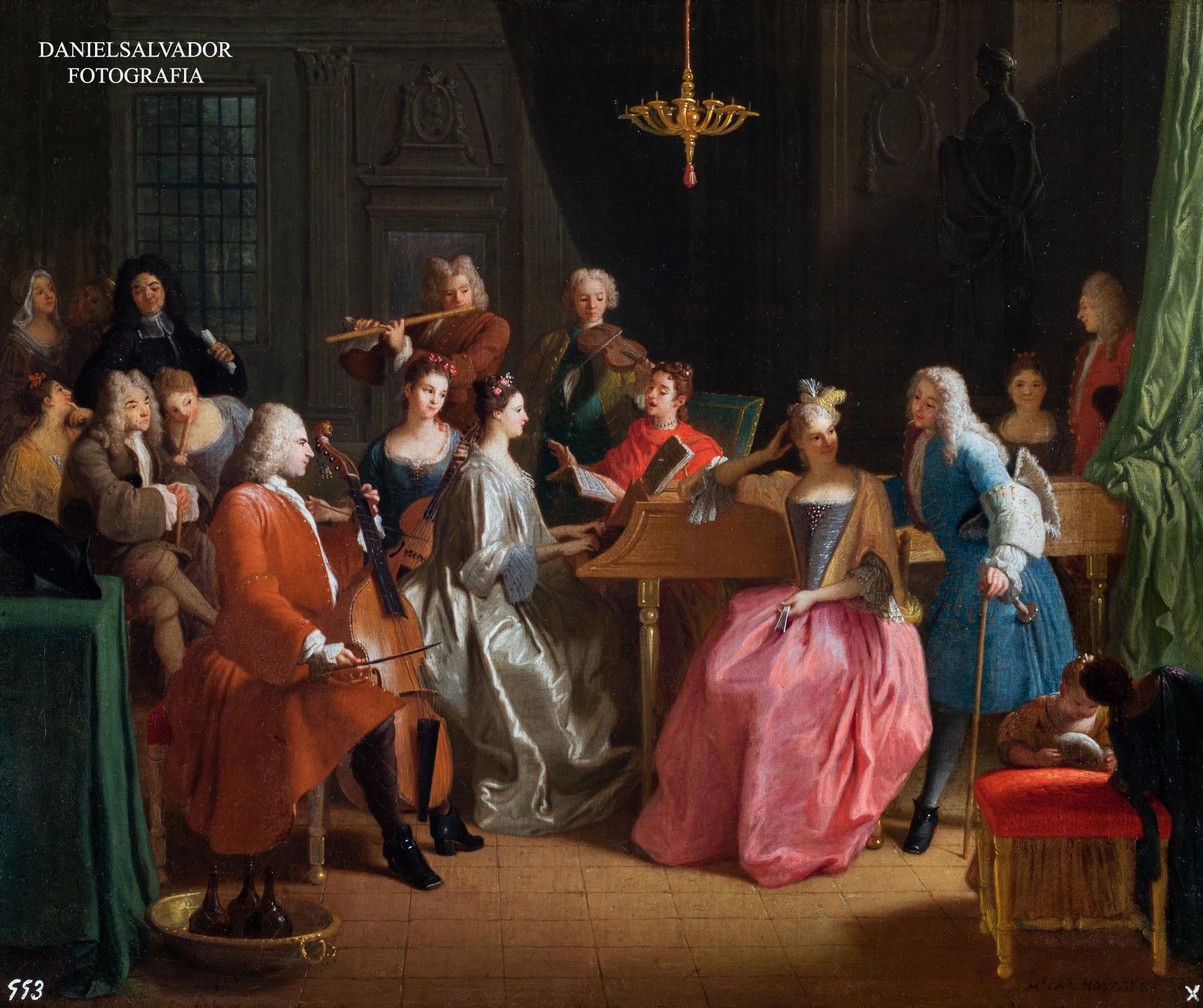 Velada musical. Michael Houasse. Palacio de la Granja de San Ildefonso