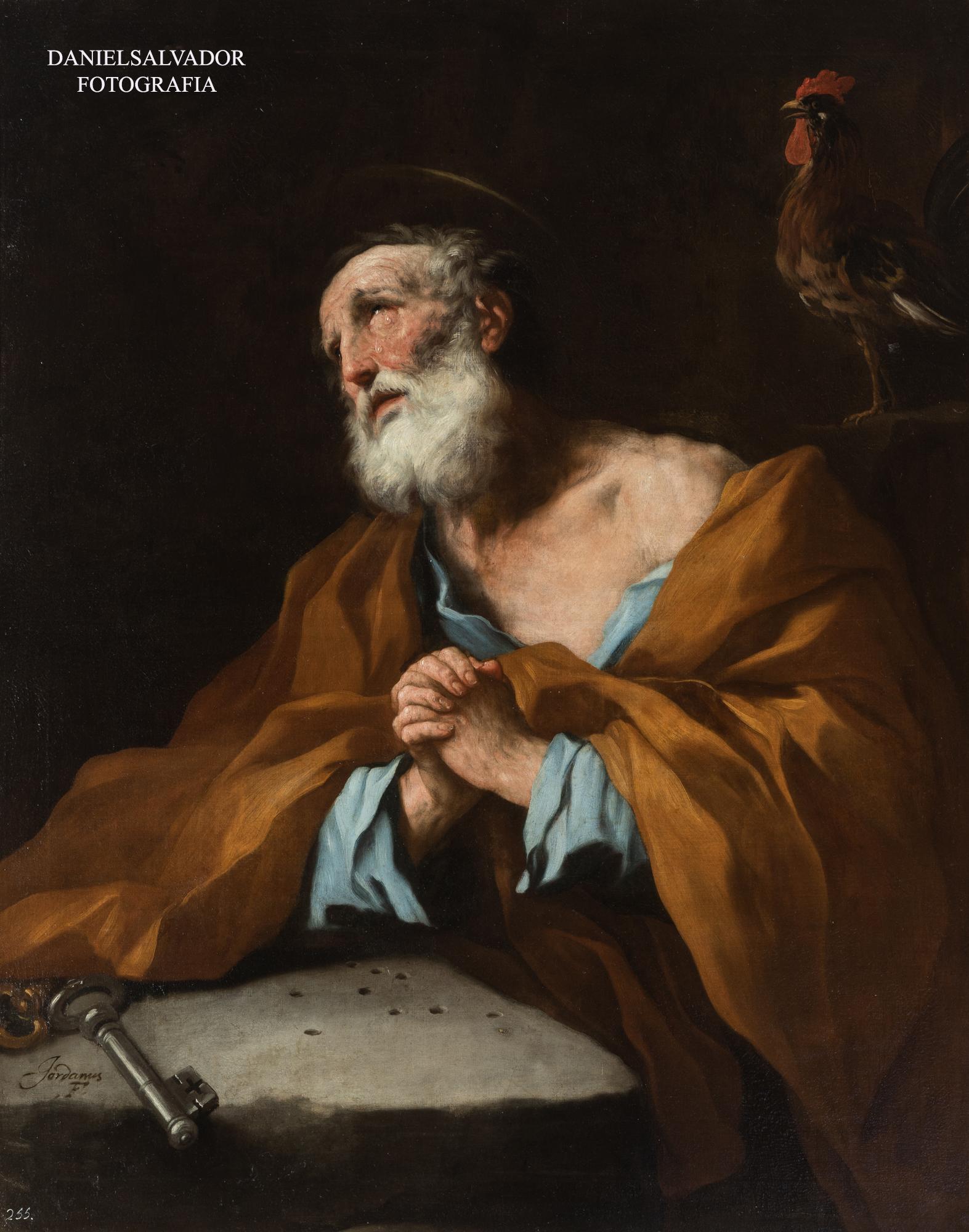 Lágrimas de San Pedro. Luca Giordano. Palacio de la Granja de San Ildefonso