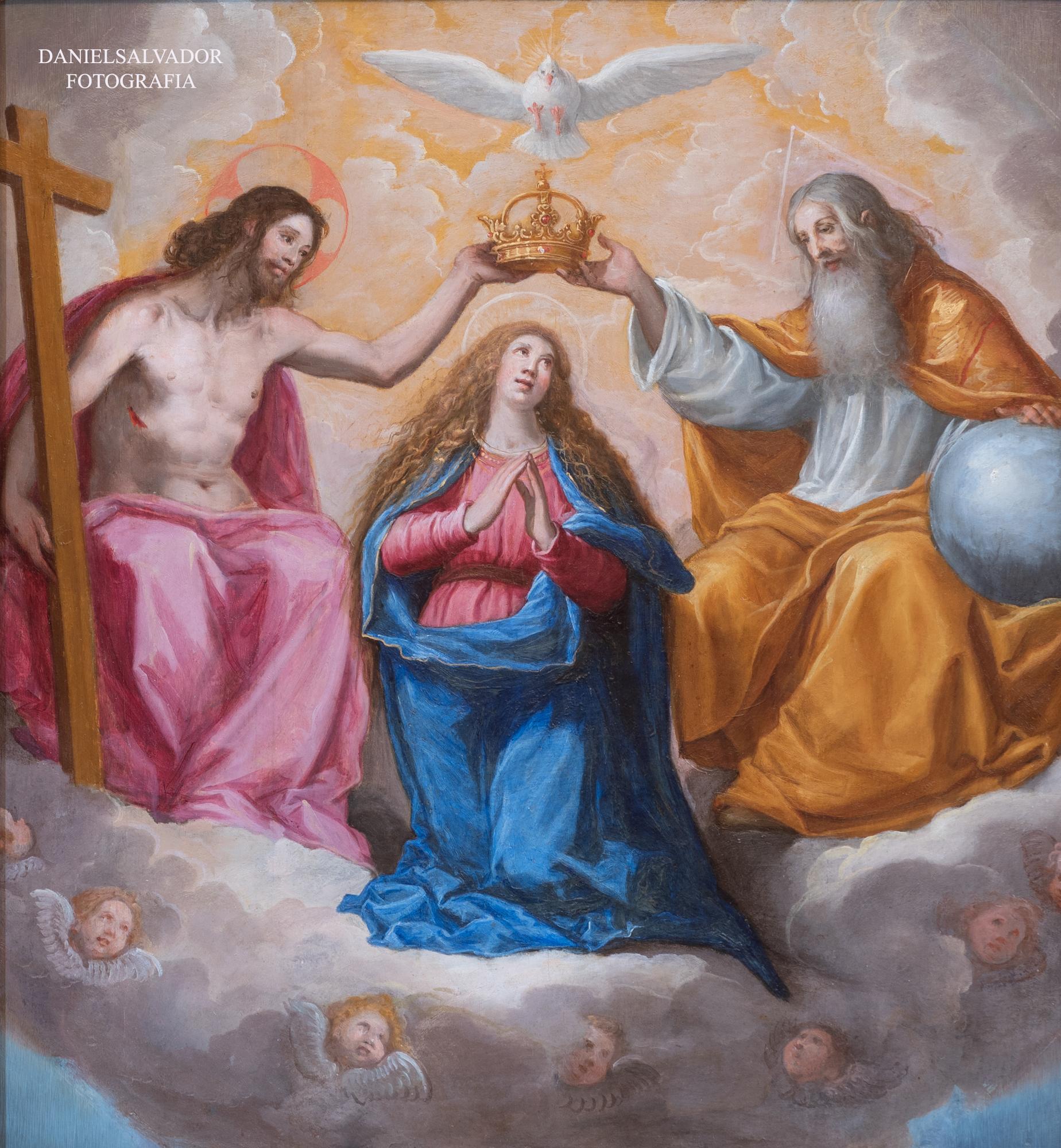 Coronación de la Virgen. Vicente Carducho. Palacio de Riofrío