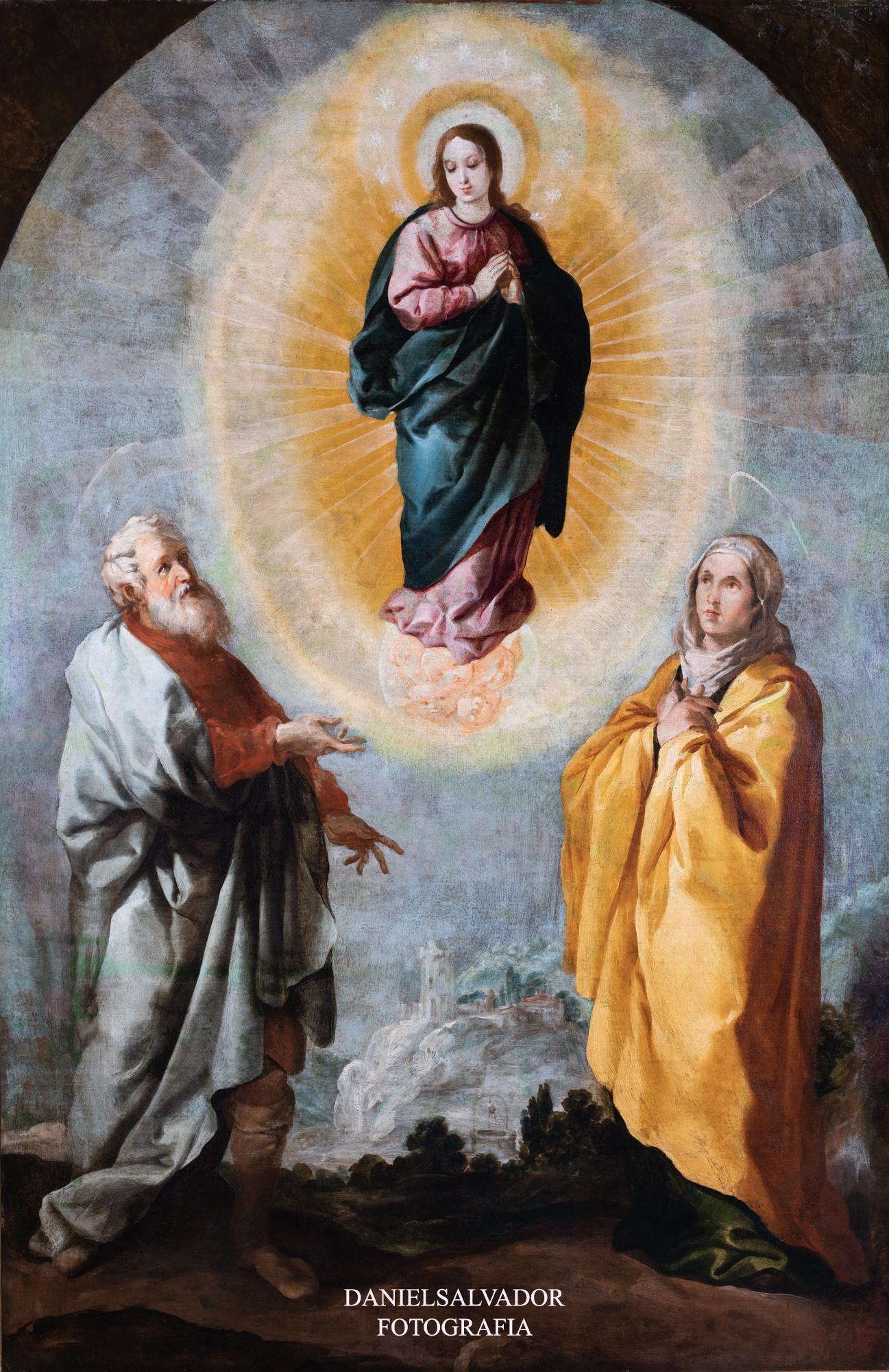 Inmaculada con san Joaquín y Santa Ana. Francisco de Herrera el viejo. Fundación Focus
