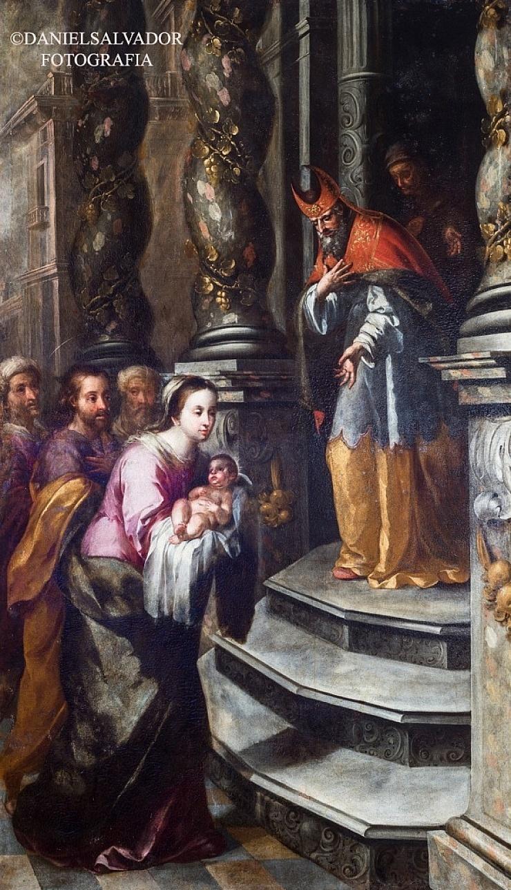 Presentación del Niños Jesús al Templo. Matías de Arteaga. Palacio Arzobispal de Sevilla