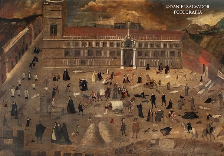 La peste de 1649 en Sevilla. Anónimo. Museo del Hospital Del Pozo Santo. Sevilla