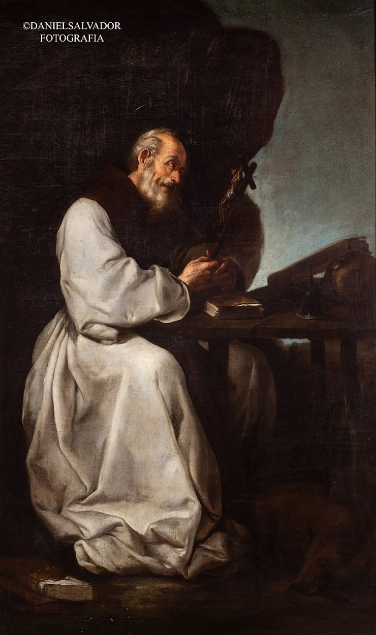 San Antón. Francisco de Herrera el Viejo. Colección particular de D. Manuel Morales y Fernández de Xódar