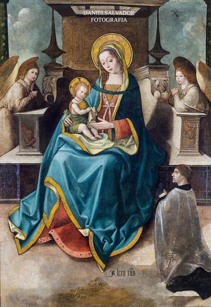 Virgen con el niño. Alejo Fernandez. Palacio Arzobispal. Sevilla