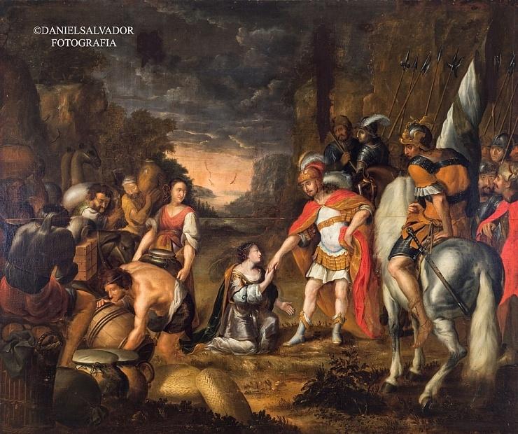 David aplacado por Abigail. Abraham Willaerts. Palacio Arzobispal de Sevilla
