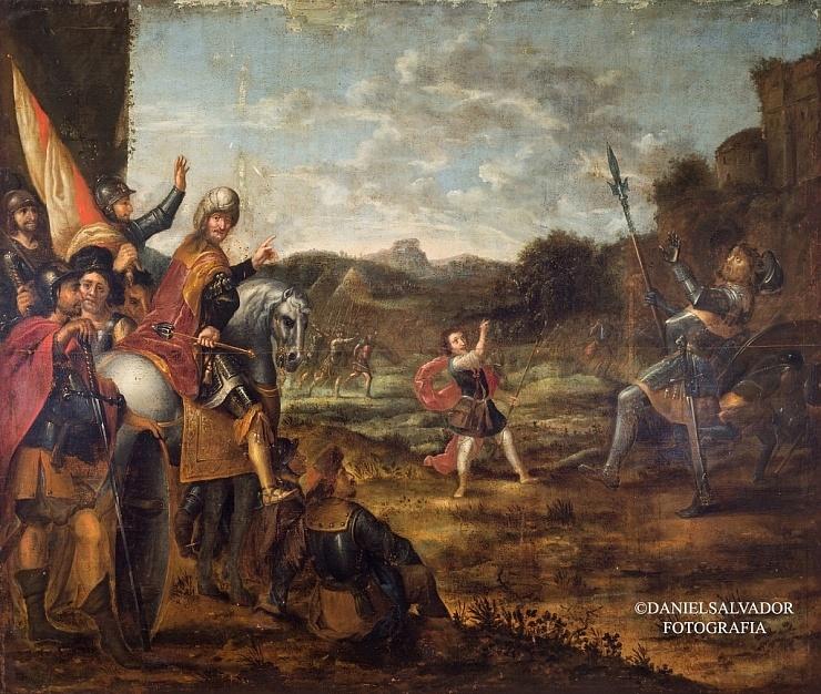 David venciendo a Goliat. Abraham Willaerts. Palacio Arzobispal de Sevilla