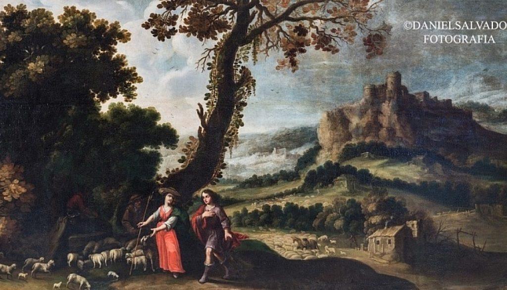 Jacob y Raquel ante el pozo. Juan de Zamora. Palacio Arzobispal de Sevilla