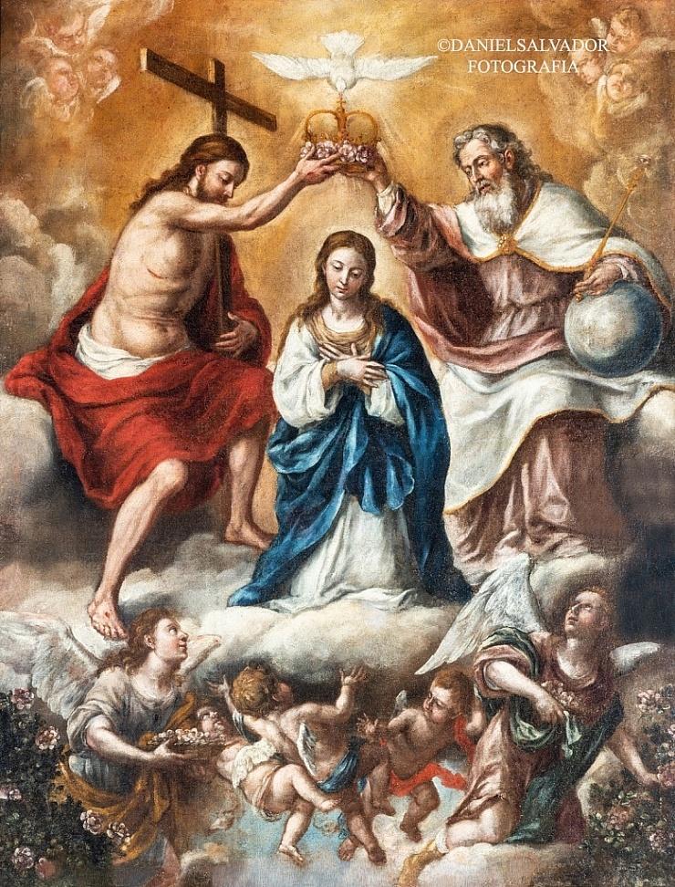 Coronación de la Virgen. Lucas Valdés. Hermandad de la Santa Caridad. Sevilla