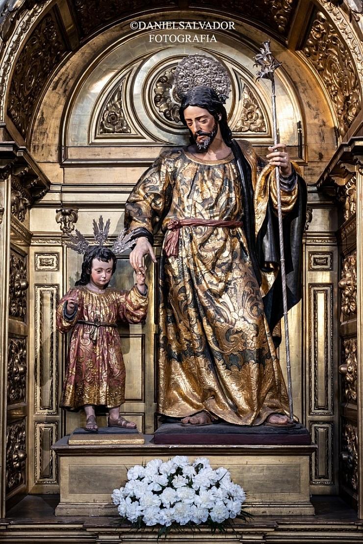 San José y el Niño. Juan Martínez Montañés. Parroquia de Santa María Magdalena. Sevilla