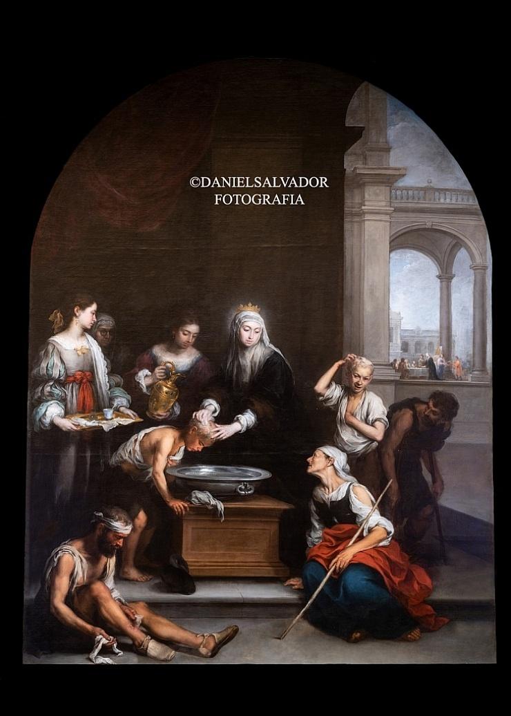 Santa Isabel de Hungría curando a los niños. Bartolomé Esteban Murillo. Hermandad de la Santa Caridad. Sevilla