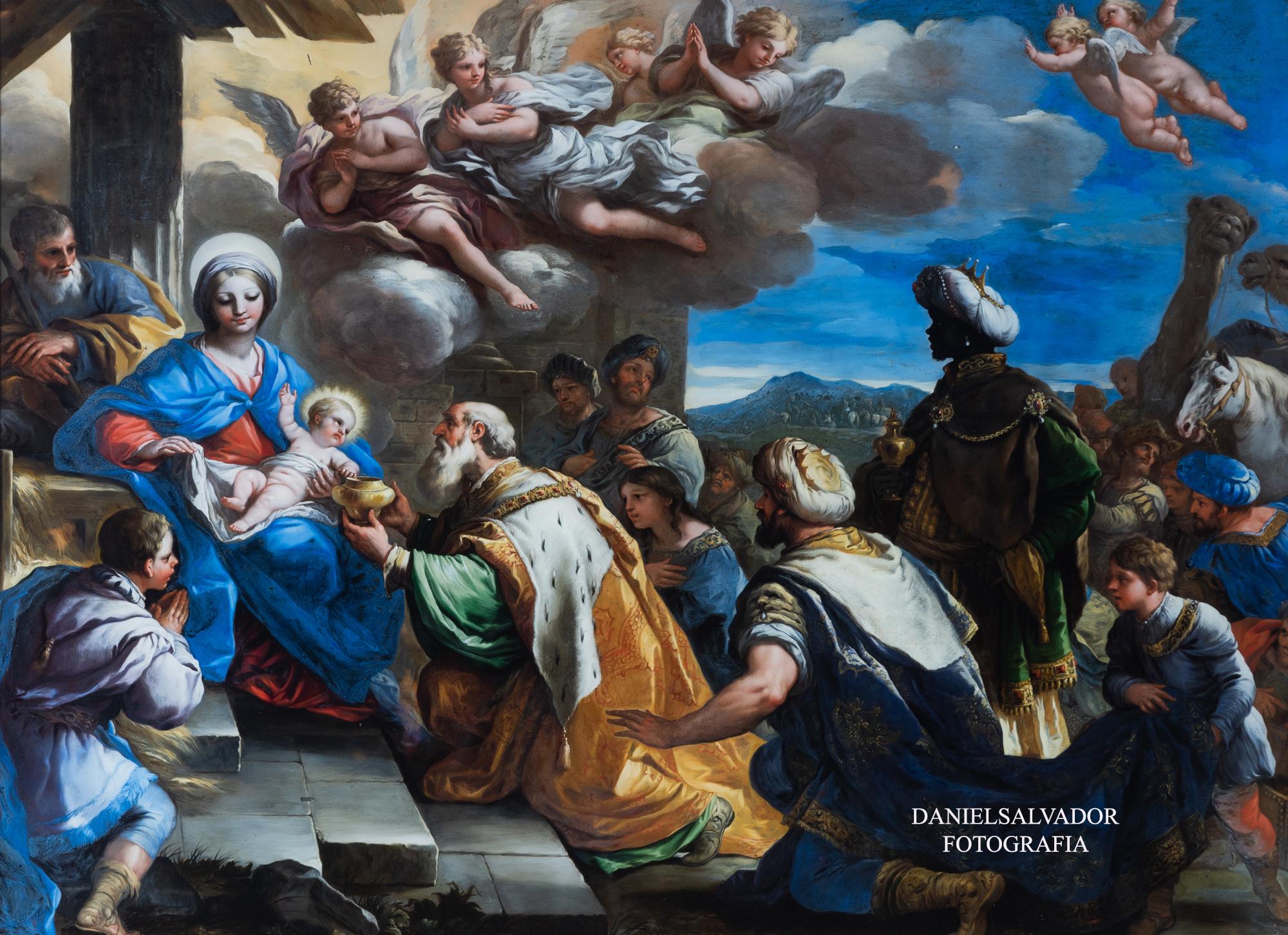 Adoración de los Magos. Luca Giordano. Palacio de la Granja de San Ildefonso