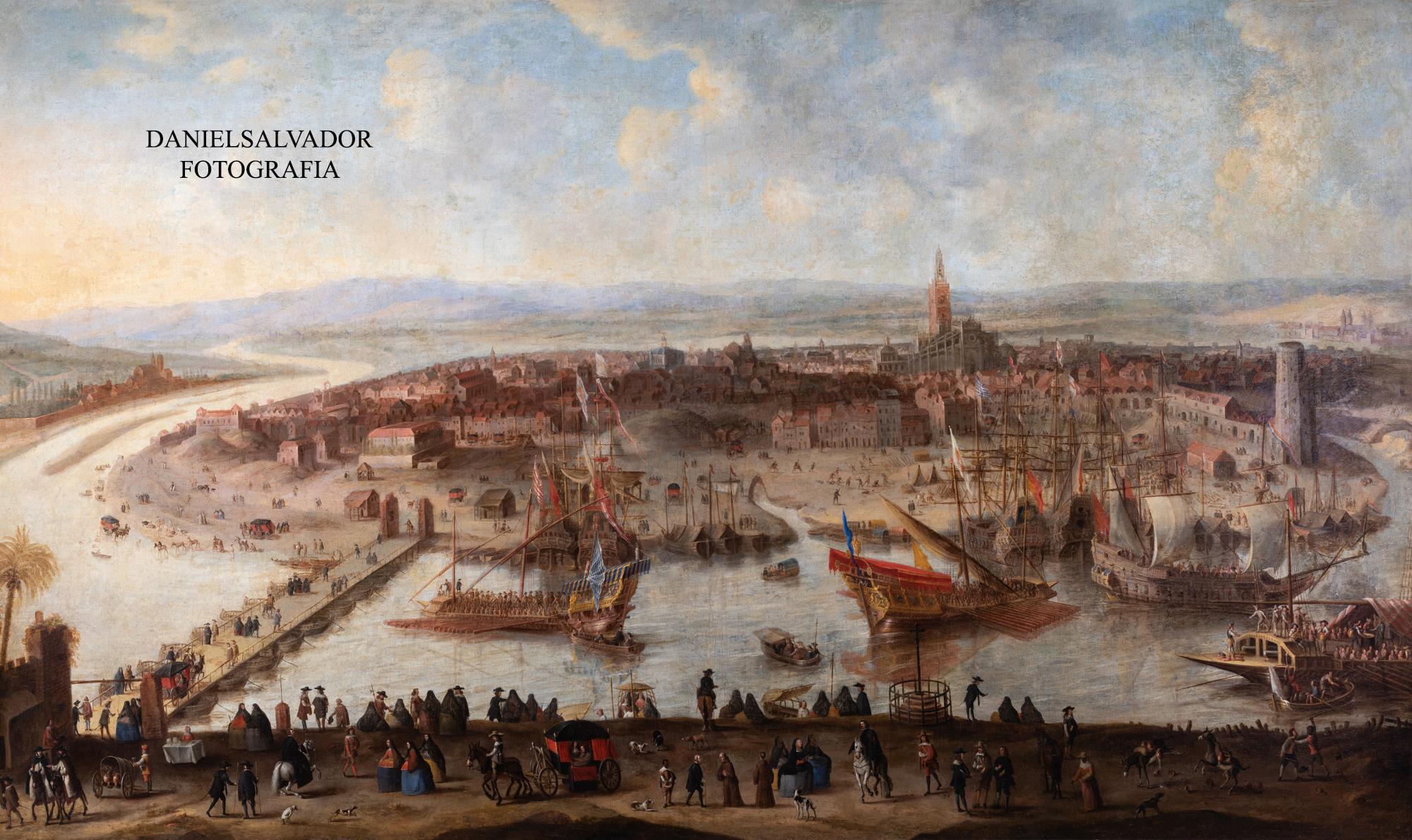 Vista de Sevilla. Anónimo. Hacia 1660. Fundación Focus.