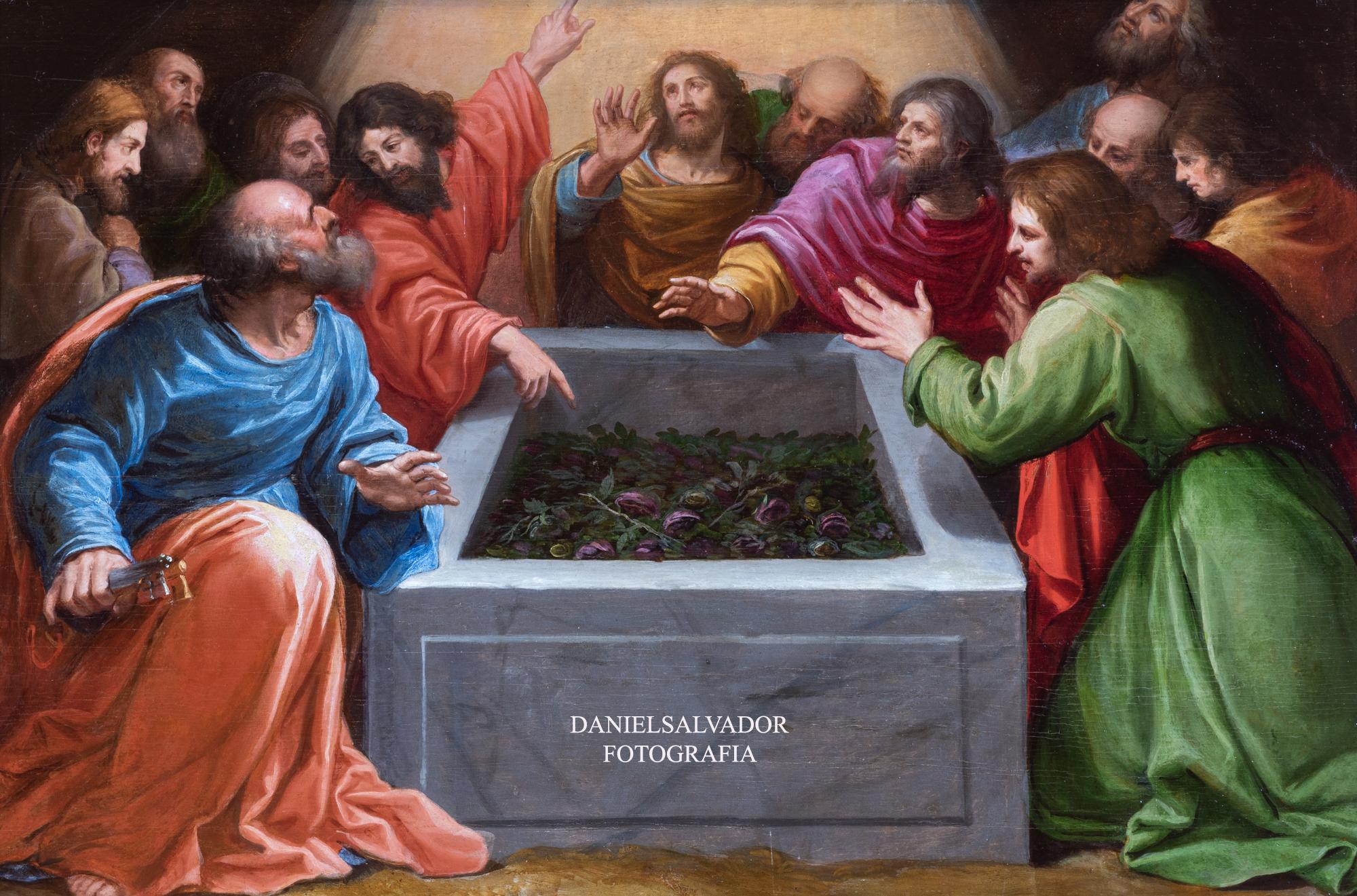Los apóstoles contemplando el sepulcro vacío. Vicente Carducho. Palacio de Riofrío