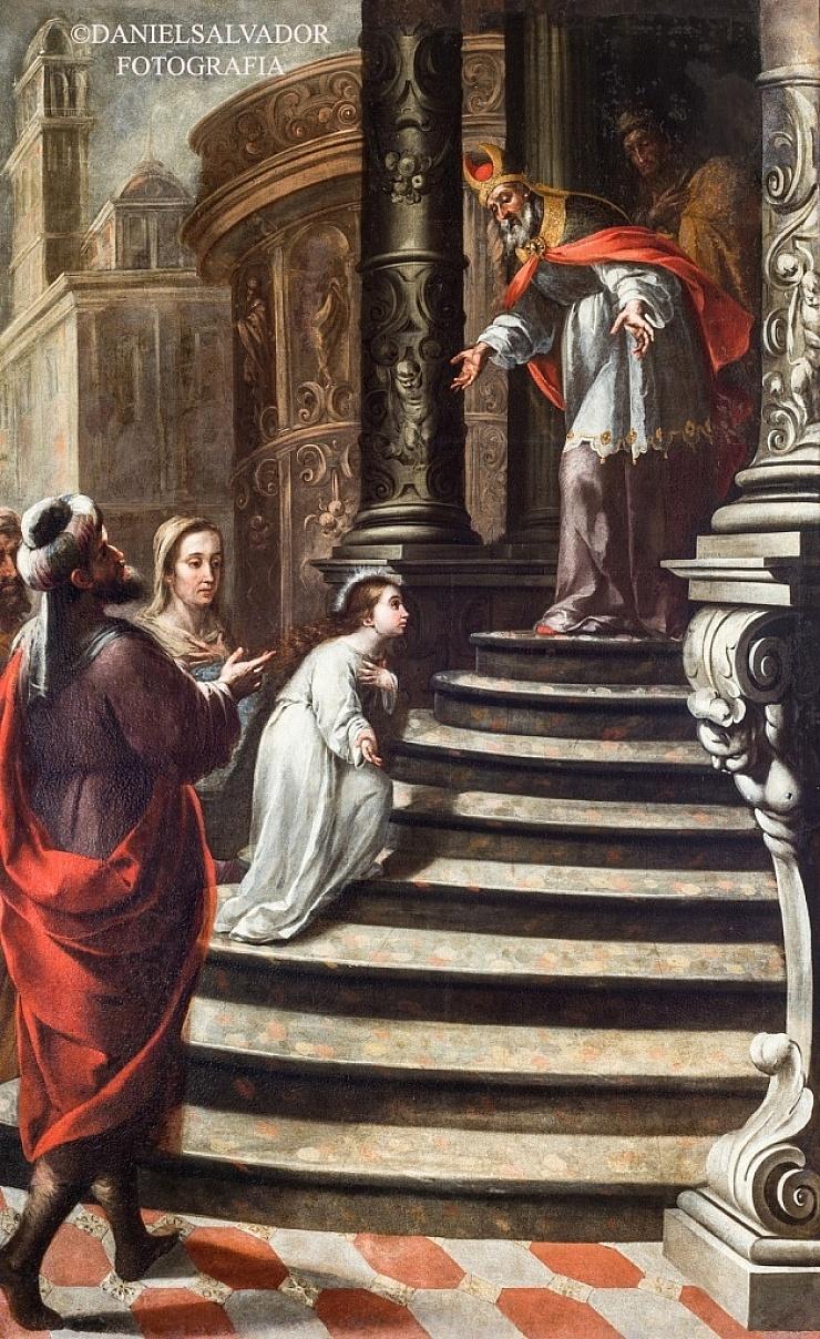 Presentación de la Virgen al Templo. Matías de Arteaga. Palacio Arzobispal de Sevilla