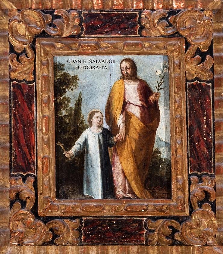 San José con el Niño. Juan de Uceda. Colección de Manuel Morales y Fernández de Xodar