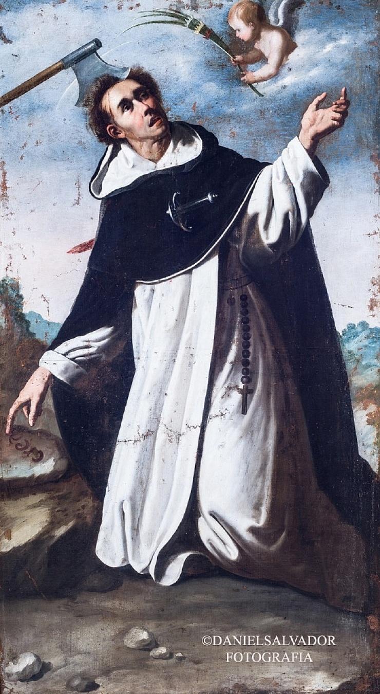 San Pedro Martir de Verona. Francisco de Zurbarán. Palacio Arzobispal de Sevilla